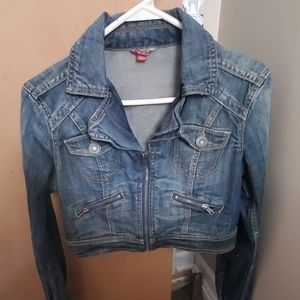 Guess? Cropped jean jacket